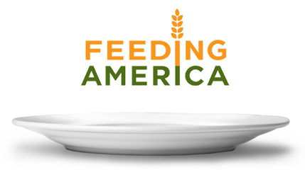Logo and Feeding America Plate
